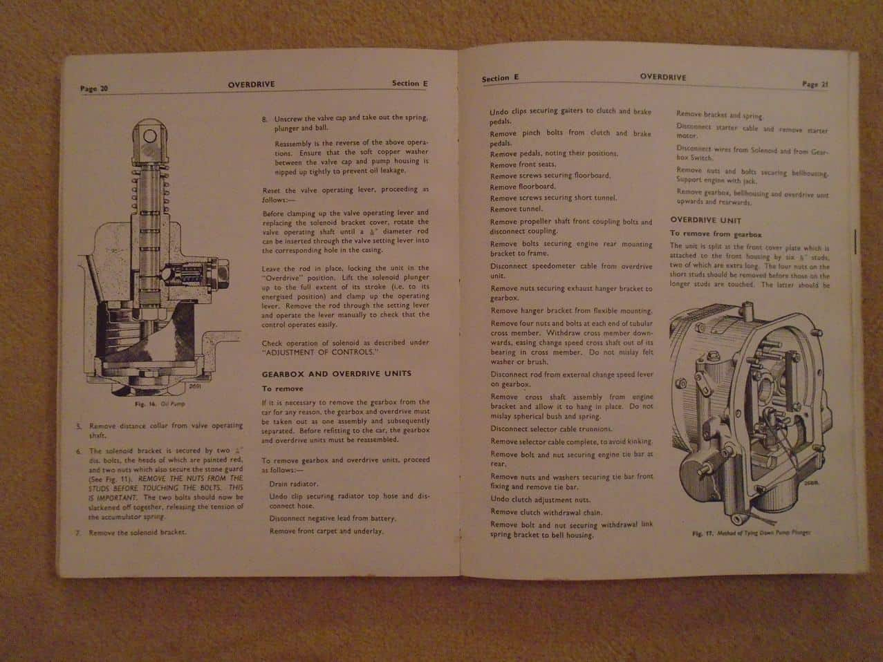 Sunbeam Workshop Manual