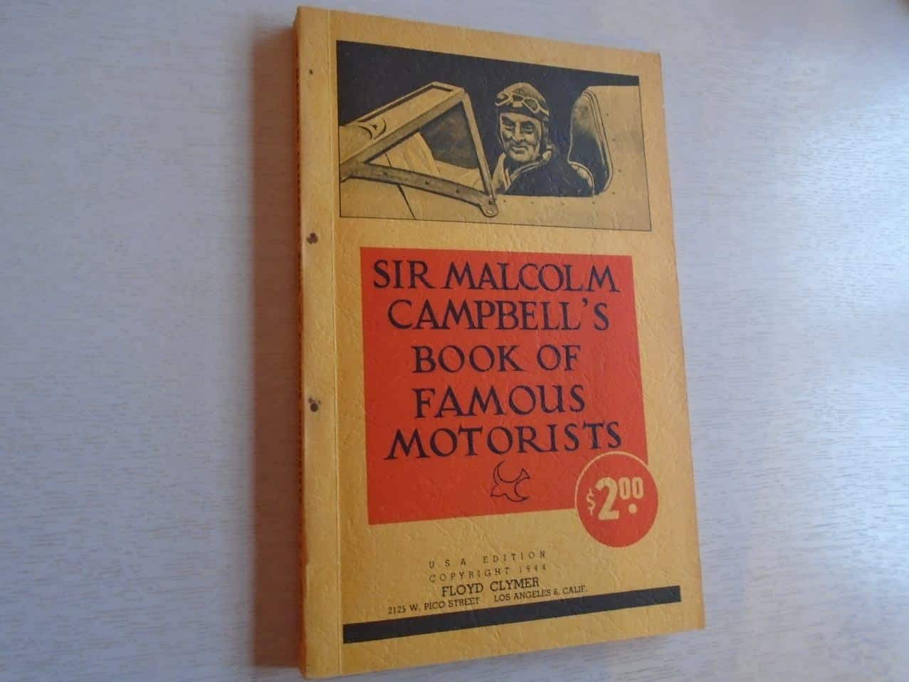 Sir Malcolm Campbell's Book ...
